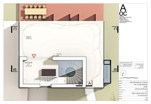 .9 půdorys penthouse